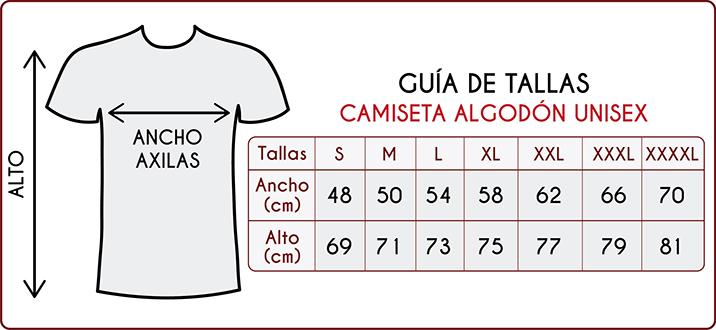 Tallas de las camisetas de algodón para adultos