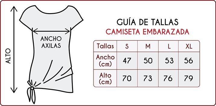 Tallas de las camisetas de embarazadas